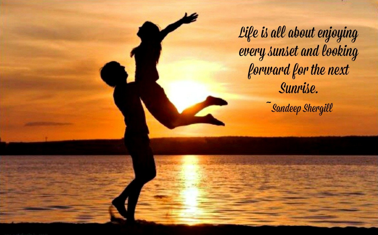 Outdoors Orange Sun Nature Sky Water Quote Sea Love Couple Sunset  Silhouette Romantic Beautiful Pictures Hd