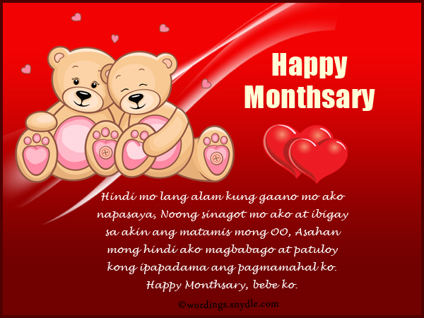 Tagalog Monthsary Messages