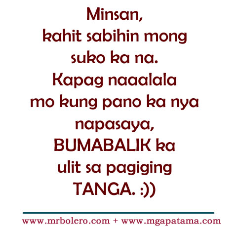 Patama Quotes Tanga Love Tagalog Quotes