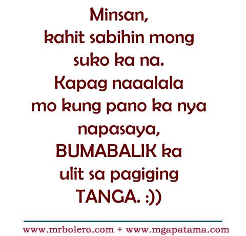 Patama Quotes Tanga Love Tagalog Quotes