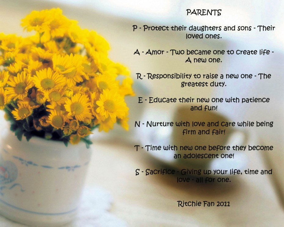 Quotes About Parents Love For Their Children The Picture Of Yellow Flowers With Quote About