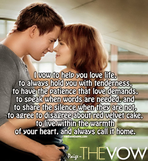 The Vow Movie Love Quotes