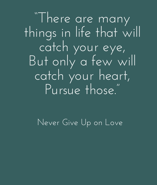 There Are Giving Love Quotes Many Things In Life That Will Catch Your Eye Only Few