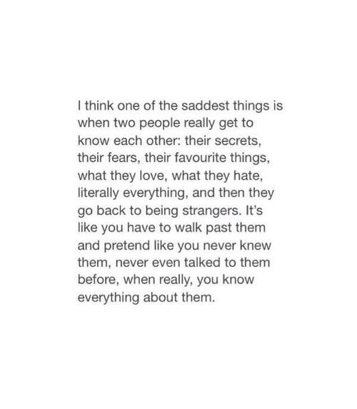 Tumblr Sad True Twitter Broken Miss You Depressing Break Up Relatable True Quotes Strangers Break Up