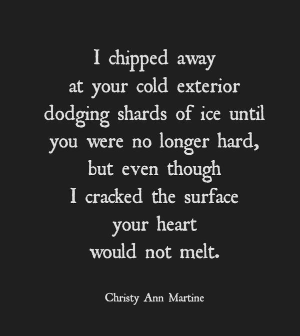 Poem Winter Imagery Love Poems Frozen Heart When You Try To Love Someone Who Cant Love You Back Unrequited Love Quotes Sayings Short Poem By