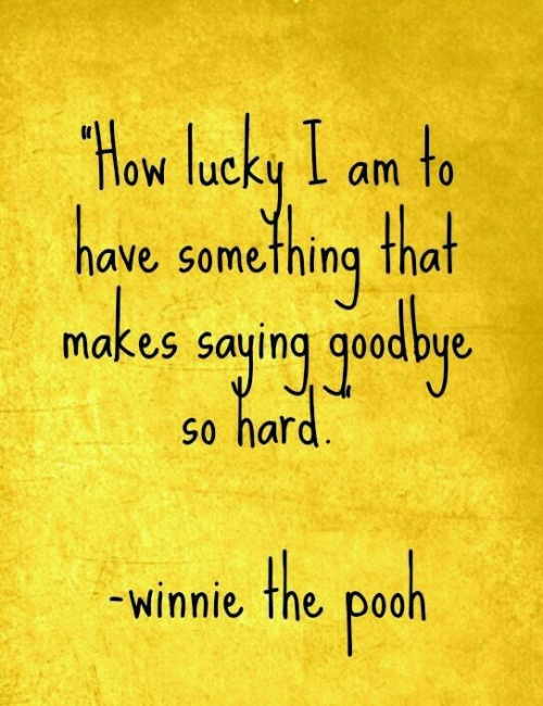 Winnie The Pooh Goodbye Quote Archidev