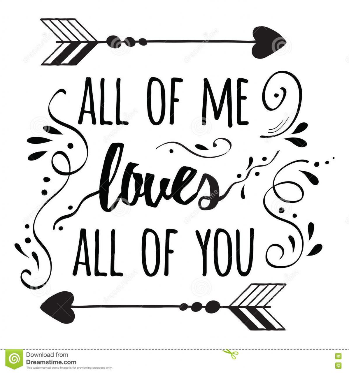 Typography Romantic Poster About Love Quote