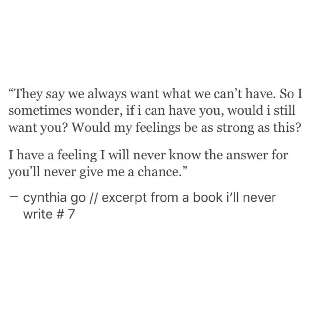 Unrequited Love Quotes Excerpt From A Book Ill Never Write Cynthia Go