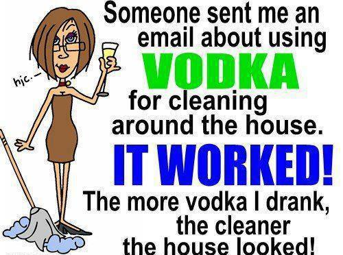 Funny Vodka Facebook Status Update