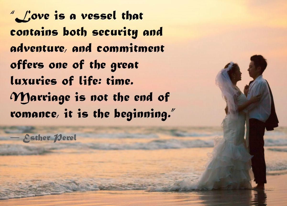 Wedding Couple On Beach Commitment Quotes