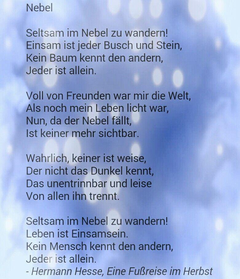Hermann Hesse Nebel