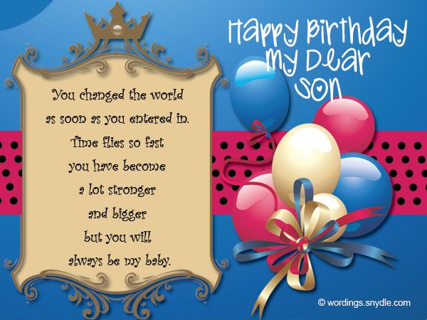 Birthday Wishes For Son Birthday Cards For Son Birthday Greetings For Son Birthday Smiles For Son Birthday Sayings For Son