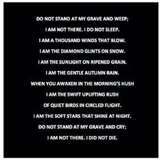 Poem By Mary Elizabeth Frye