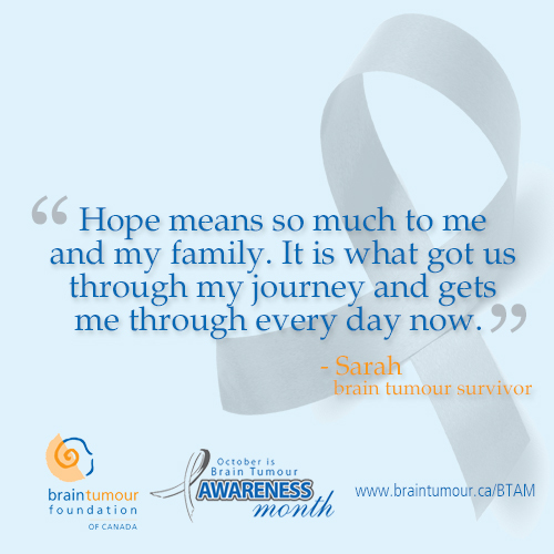 Quotesarahquote Jpg More In Tumour Awareness Monthimpact