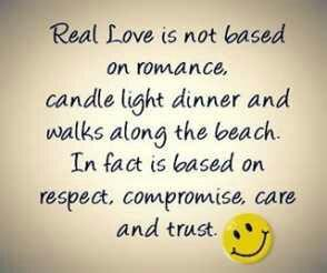 Real Love Is Not Based On Romance Candle Light Dinner Walk Along The Beach