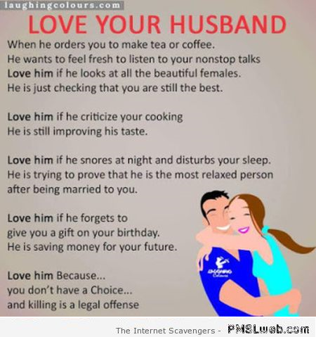 Funny Love Your Husband Rules