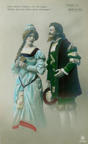 Jutta Assel Und Georg Jager Goethe Motive Auf Postkarten Faust Und Gretchen Fotopostkarten Serie