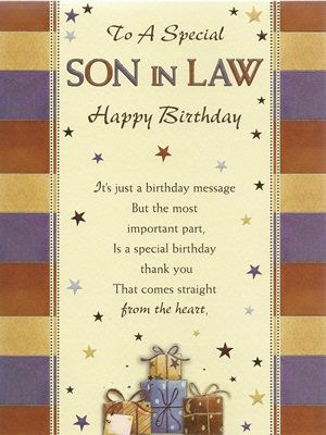 Facebook Birthday Cards Greetings For Son In Law Son In Law Birthday Card Bsl