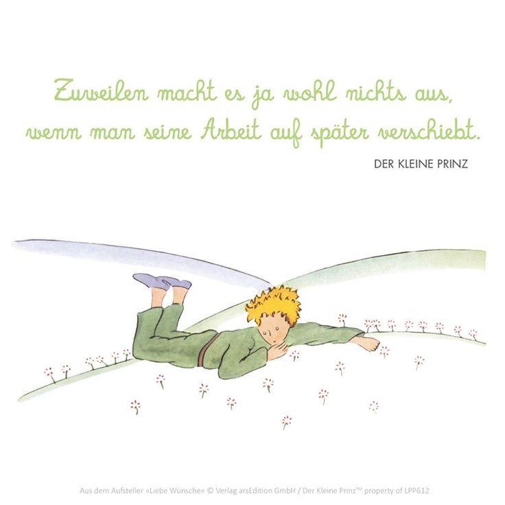 Der Kleine Prinz The Little Prince Le Petit Prince Zitat Quote Spruch Schlaf Kinder