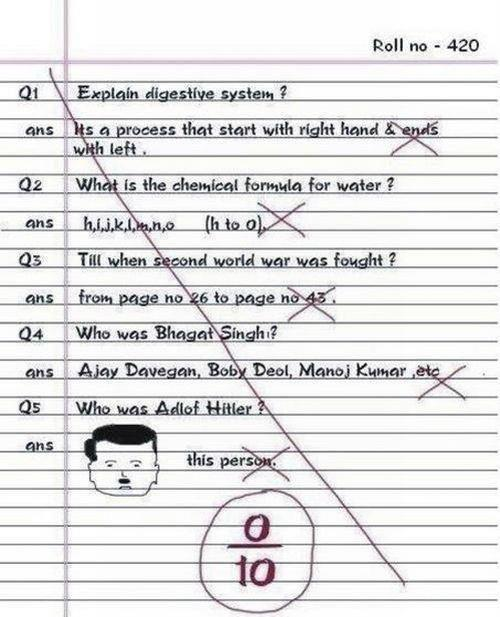 Funny Answers D