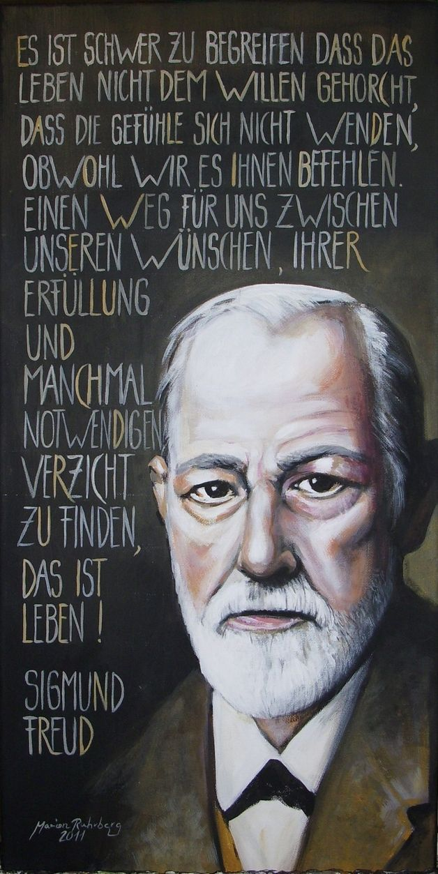 Acrylmalerei Sigmund Freud Portrait Acryl Auf Leinwand Ein Designerstuck Von Marionruhrberg Bei Dawanda Das Wunsche Ich Mir