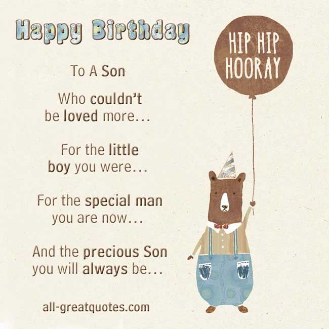 Facebook Birthday Wishes To Son Get Funny Quote Says