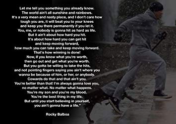 Motivational Rocky Balboa  Boxen Zitate A Poster A Poster