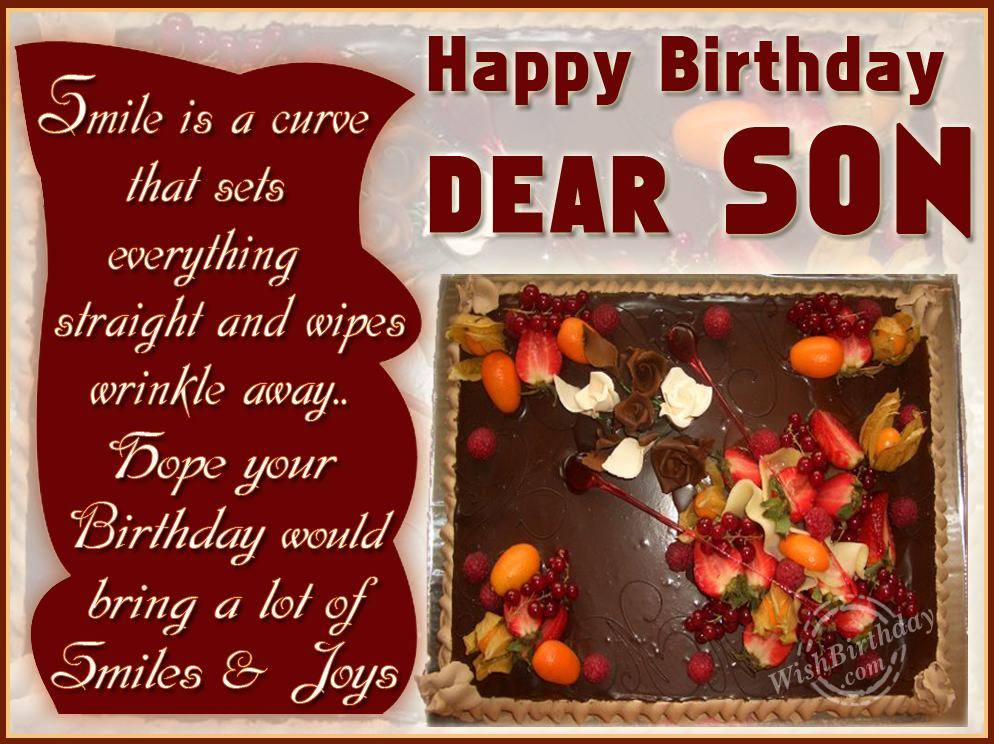 Happy Birthday Wishes To Son On Facebook
