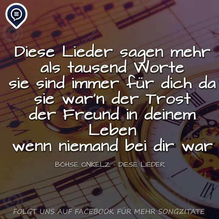 Onkelz Song Zitate Binden Gedanken Deutsch Musik Salsa Tanzen
