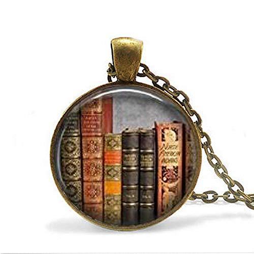 Bibliothek Buch Halskette Bibliothekar Anhanger Buchliebhaber Klassisches Literatur Buch Zitat Literatur