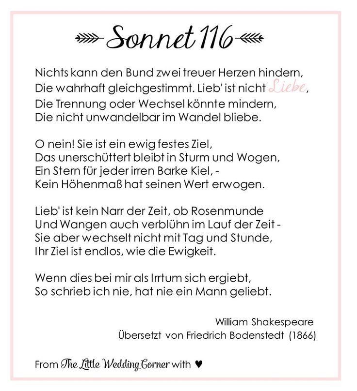 Gedicht Zur Hochzeit Shakespeares Sonnet  Hochzeitsblog The Little Wedding Corner