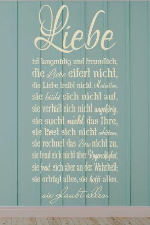 Wandtattoo Liebe Ist Langmutig Und Freundlich Liebe Eifert Nicht  C B Liebeglaube Liebe Hoffnungliebe Spruchchristliche Spruchechristliche