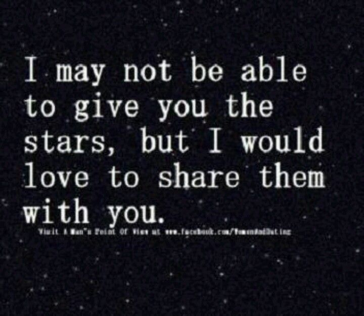 When We Sit Outside And Stare Up At The Starry Night Sky