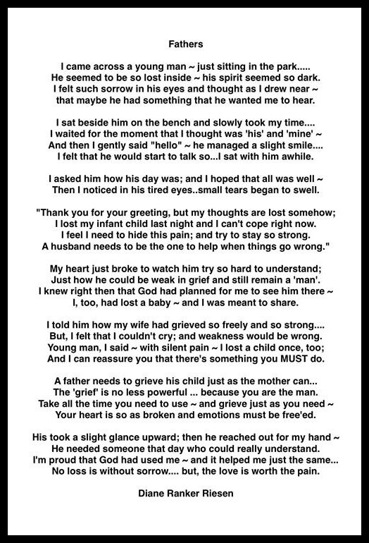 Fathers A Poem By Diane Ranker Riesen