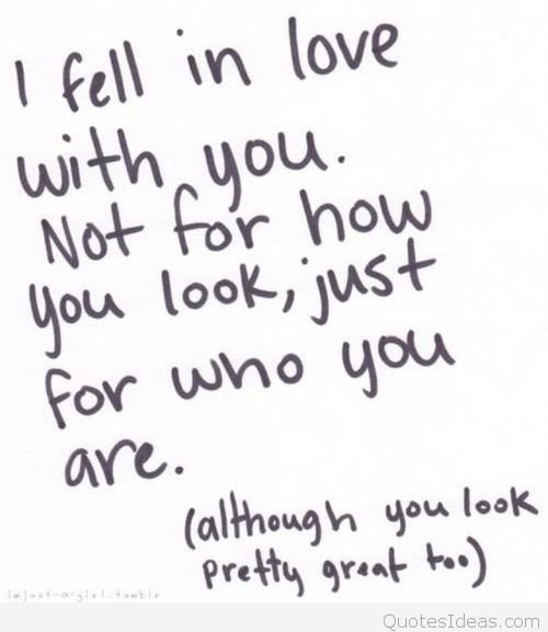 Fell In Love With You Tumblr Love Quote