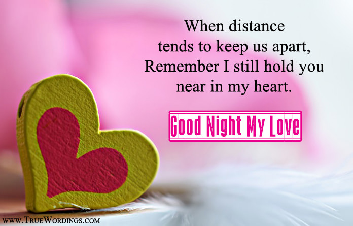 Good Night My True Love Quotes Hover Me