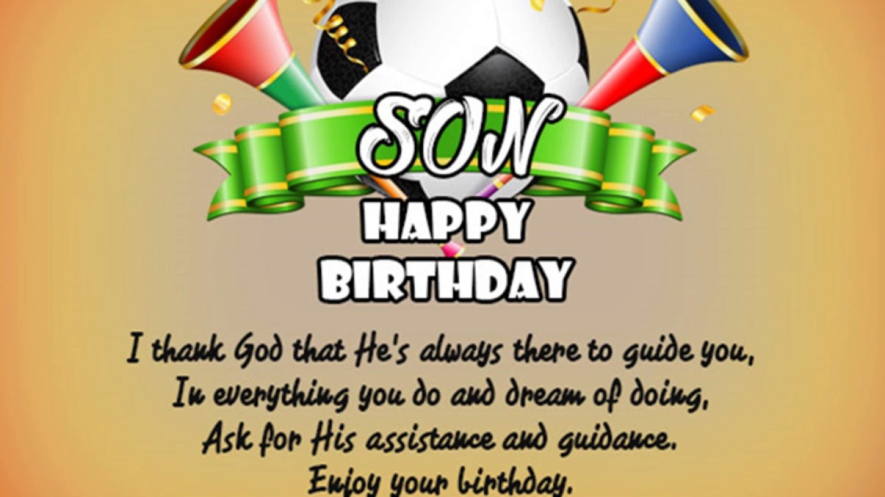Happy Birthday Wishes For Son Picture