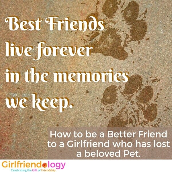 How To Be A Friend When A Girlfriend Has Lost A Pet