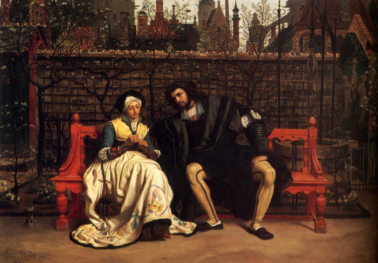 Faust Und Gretchen Im Garten Gemalde James Tissot