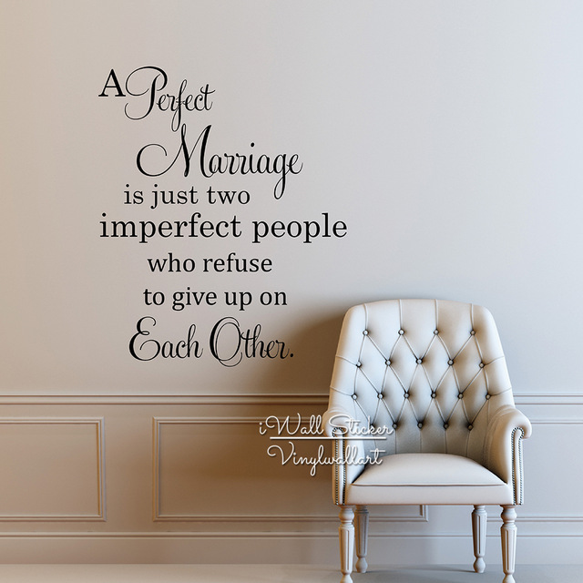 Aliexpress Com Buy Perfect Marriage Quote Vinyl Wall Decals Family Wall Sticker Love Quotes