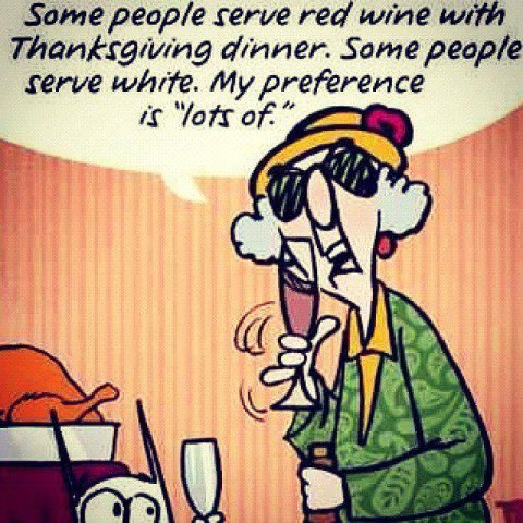 Thanksgiving Dinner Wine Funny Facebook Quote