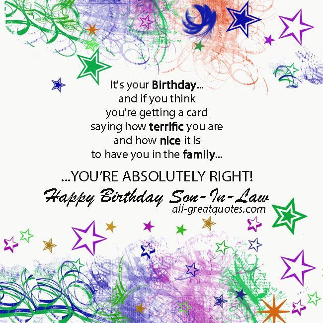 Happy Birthday Son In Law Wishes To Post On Facebook Google Search