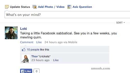 Avengers Facebook Posts