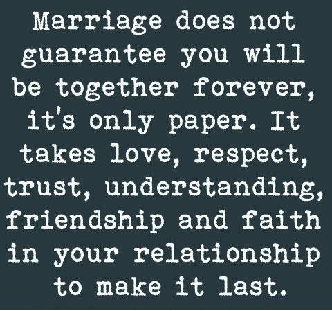 True Love Trust Respect Quote It S Only Paper It Takes Love Respect Trust Understanding Friendship