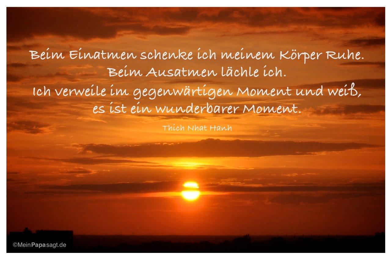 Sonnenuntergang Mit Dem Zitat Beim Einatmen Schenke Ich Meinem Korper Ruhe Beim Ausatmen Lachle