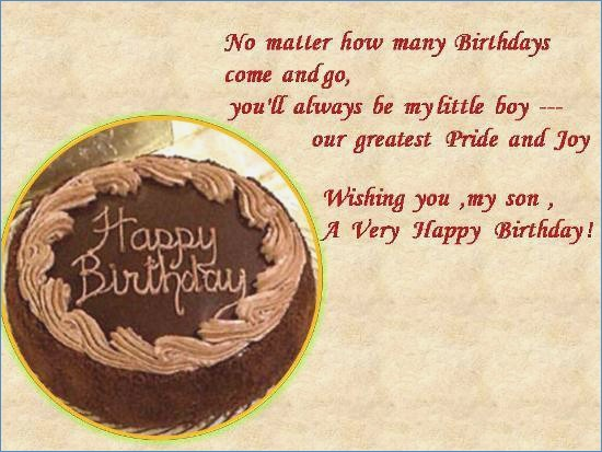 Birthday Wishes For Your Son
