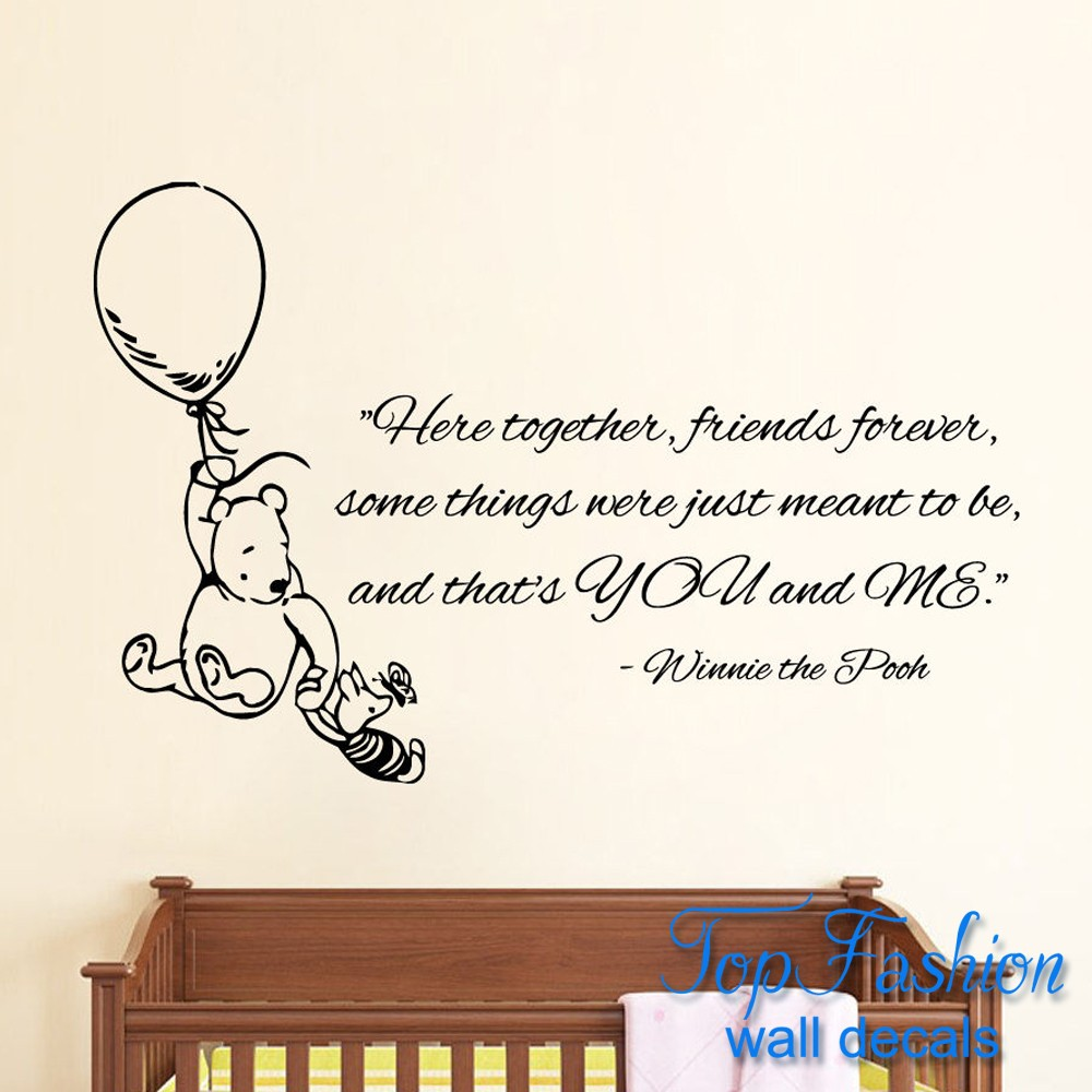 Winnie The Pooh Zitate Images Besten Zitate Ideen Here To Her Friends Forever Wall Decals Quote
