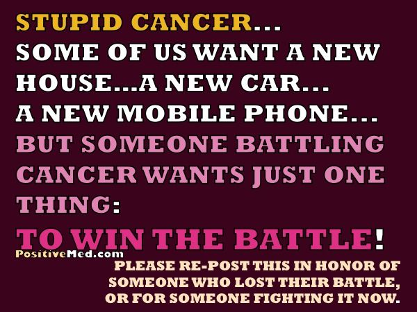 Fightingt Cancer Quotes Of Someone Who Lost Their Battle Or