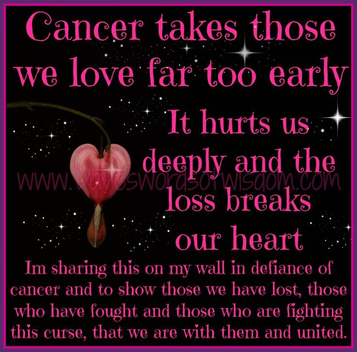 In Loving Memory Of Every Cancer Patient Family And Friends Who Have Lost The