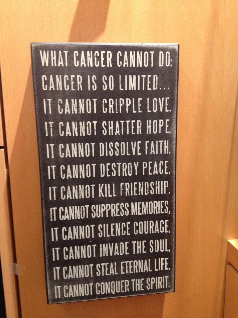Inspirational Quote For Someone Fighting Cancer